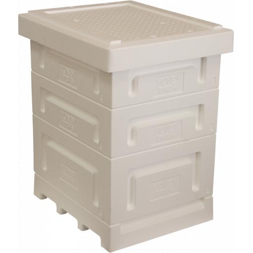 Langstroth Polystyrene Hive With Two Supers Frames and Foundation